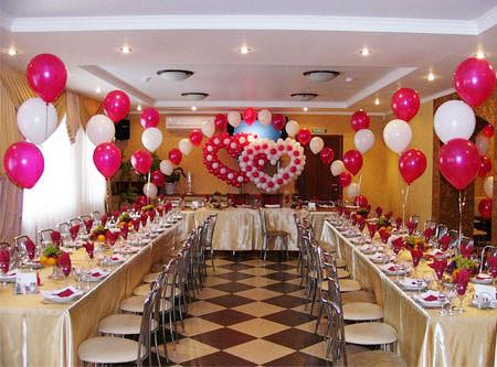 Воздушные шары – отличный декор для свадьбы